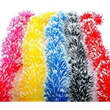 Generic Yellow : Fashion 1 Pcs 2M Christmas Party Xmas Tree Ornaments Garland Ribbon Hanging Decorations Color...