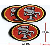 3 Pcs. San Francisco 49ers Logo Embroidered Iron on Patches From Thailand