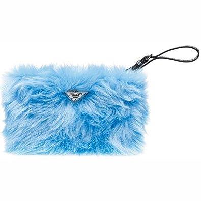 Prada Handbag 1N1530 Eco Pelliccia Faux Fur Wristlet Clutch Bag ...