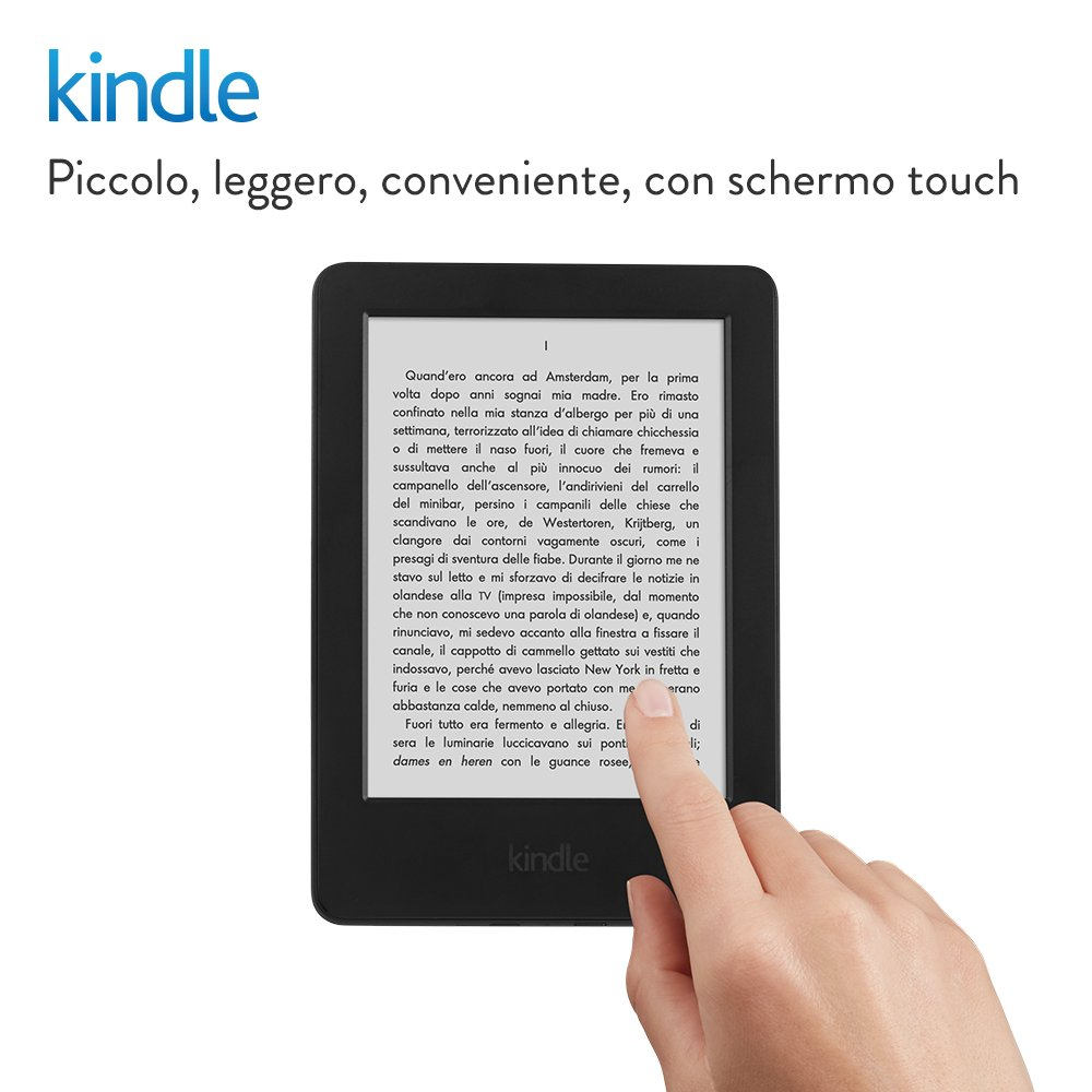 amazon kindle ebook reader touch 8 pollici