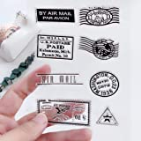 MaGuo US Postage and Stamps Clear Stamps for DIY Scrapbooking and Card Making Decoration