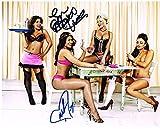 WWE DIVA STRIP POKER MICKIE JAMES MELINA DUAL AUTOGRAPHED 8X10 PHOTO AUTOGRAPH