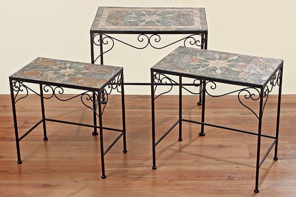 Beistelltisch Tisch Malta eckig L 44 cm Mosaiktisch, Eisentisch online kaufen