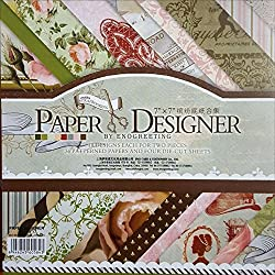 CraftDev Design Printed Papers for Art n Craft (Romantic Design 003) Set Of 40 (7