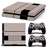 FriendlyTomato PS4 Vinyl Retro Console and DualShock 4 Controller Skin Set