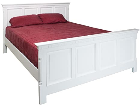 ANTIQUE FRENCH WHITE DOUBLE BED FRAME BEDROOM WHITSTABLE RANGE (GSV001) ** FULL RANGE OF MATCHING FURNITURE IS AVAILABLE