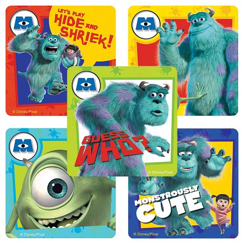 Disney Monsters, Inc. Stickers - Party Favors - 75 per Pack
