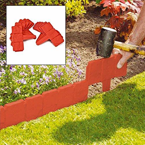 Upc 619271686310 parkland lot de 100 pave en terre cuite for Bordure terre cuite jardin