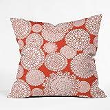 DENY Designs Heather Dutton Delightful Doilies Saffron Throw Pillow, 16 x 16