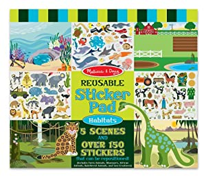 Melissa Doug Habitats Reusable Sticker Pad by Melissa & Doug