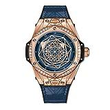 Hublot Limited Edition Sang Bleu One Click Gold Blue Diamonds Watch 465.OS.7189.VR.1204.MXM19 (Color: Blue Gold)