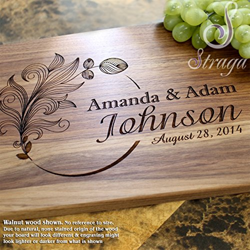Personalized Cheese Board Engraved Cheese Plate Wedding Gift