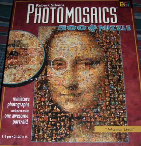 Photomosaic Mona Lisa Jigsaw Puzzle