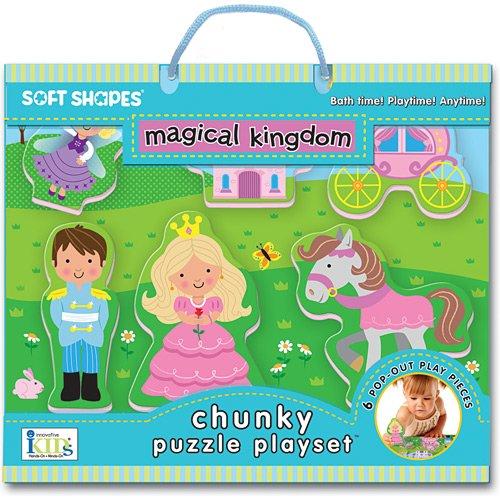Innovative Kids Soft Shapes Chunky Puzzle Magical Kingdom Playset