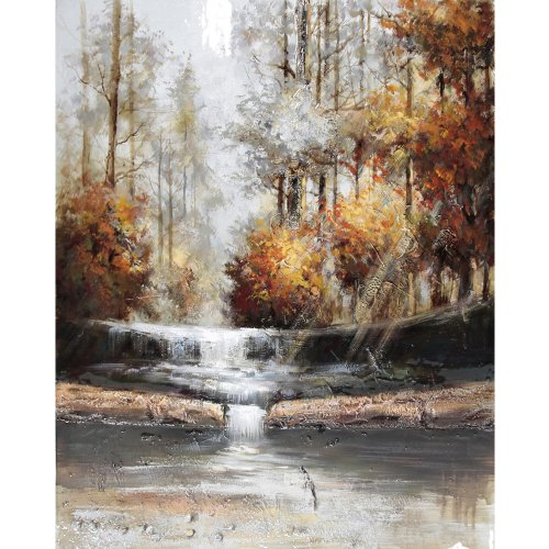 Yosemite Home Decor Fcb4732Q-3Ym Natural Perspective Iii Landscape Hand Painted Artwork