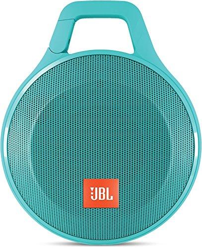 JBL Clip+ Speaker Bluetooth, Portatile, Ricaricabile a Prova di Spruzzi con Ingresso Aux-In, Microfono per Chiamate in Vivavoce, Compatibile con Smartphone/Tablet e Dispositivi MP3, Verde Acqua