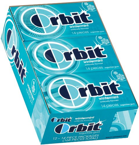Orbit Wintermint Sugarfree Gum, 14-Piece Packs (Pack of 24)