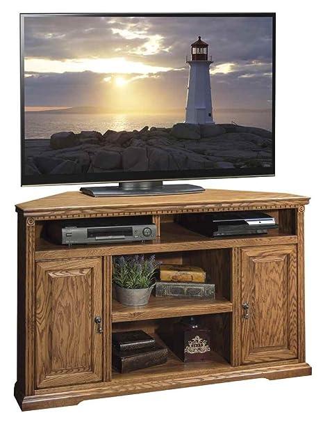 55.31 in. Corner TV Cabinet in Rustique Finish