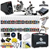 Complete Tattoo Kit 2 Machine Gun Set Equipment Power Supply 40Color Inks