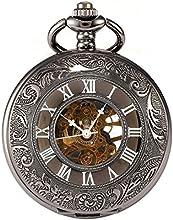 AMPM24 WPK015 - Reloj de Bolsillo, Mecánico, Analógico, Caja Negra