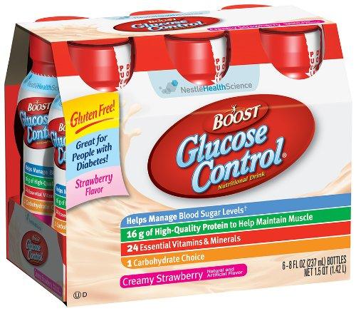 Nestle Boost Glucose Control Nutritional Drink Strawberry: Boost Glucose Control, Strawberry, 8-Ounce Plastic Bottle