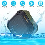 Portable Wireless Bluetooth Speaker Waterproof Outdoor Sport Mp3 Player, SUNDATOM® Music Speaker Hi-fi Player with Long Playtime Hands Free for Smart Phone Anti-drop Anti-dust Anti-water