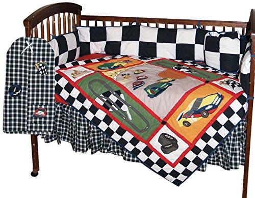 Patch Magic Race Car Crib Bedding