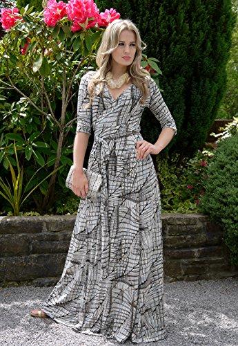 WINTER SALE! Elegant Ladies Maxi Party Dress Vintage Style Wrap Design 3