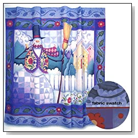Wish Upon A Christmas Snowman Shower Curtain