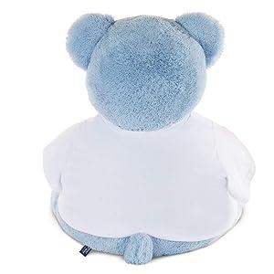 Vermont Teddy Bear Teddy Bears Stuffed Animals - I Love You Teddy Bear, 4 Foot, Custom, Jumbo, Blue (Color: 4 Foot Blue Big Bear)