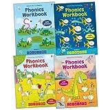 img - for Usborne Phonics Workbooks Pack, 4 books, RRP 19.96 [Paperback] by Usborne book / textbook / text book