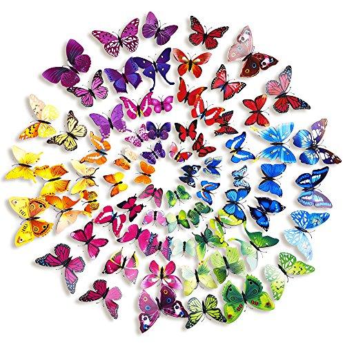 Home decor 3d della farfalla di modo animal wall sticker for Adesivi da attaccare al muro