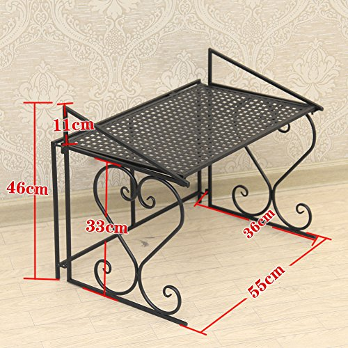 Dazone Metal Microwave Oven Shelf Kitchen Counter And Cabinet Shelf