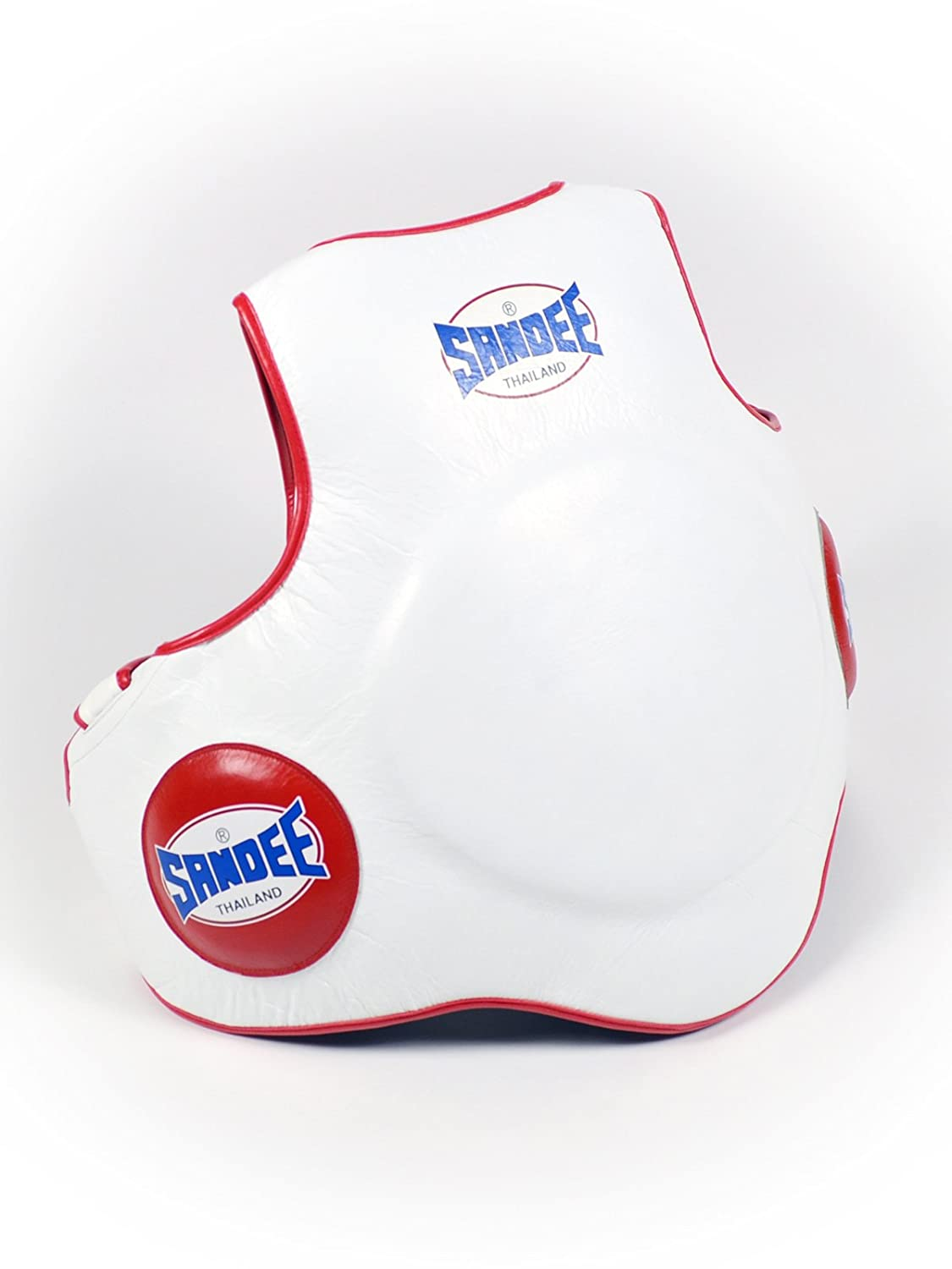 Sandee Leather Full Body Pad White & Red One Size