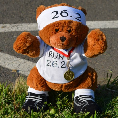 26.2 Marathon Race Teddy Bear - Runners Stuffed