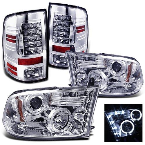 Rxmotoring 2009-2011 Dodge Ram 1500 Headlights Projector + Tail Light