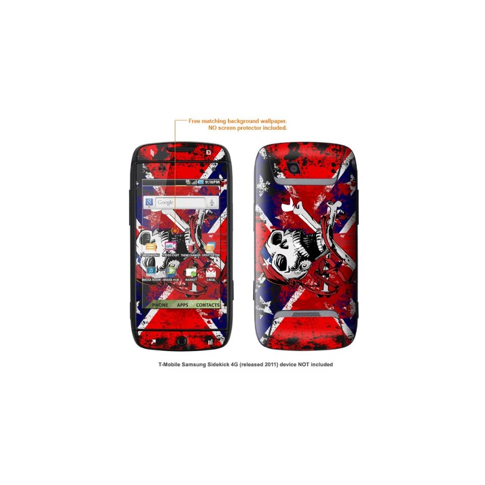 Protective Decal Skin STICKER for T Mobile Samsung Sidekick 4G case cover SK4G 126