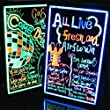 """AGPtek� 16""""x12"""" Flashing Illuminated Erasable Neon LED Message Writing Board Menu Sign (7 Colors of RGB 28 Flashing-Mode Remote Control + Metal Chain for Hanging up + Washable Eraser Cloth)"""