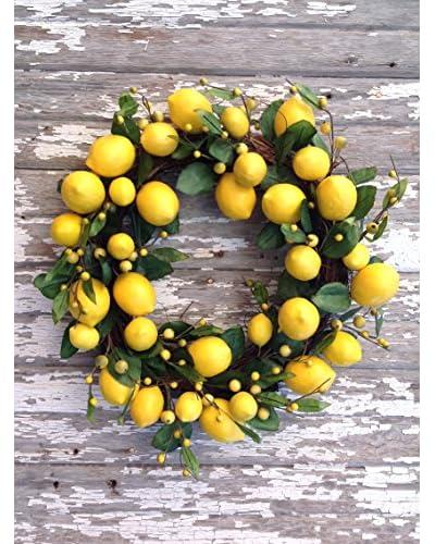 Mills Floral 18 Lemon Leaf Wreath