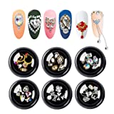 36pcs 3d Bows Nail Art Rhinestones, Alloy Jewelry Diy Nail Flatback Crystals Decoration,Manicure Charms Large Mix Sizes Crystal Diamonds Gems Stones Nail Art Supplies (Color: K-002, Tamaño: one size)