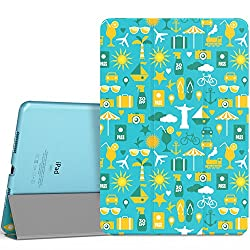 iPad Pro 9.7 Case - MoKo Ultra Slim Lightweight Smart-shell Stand Cover with Translucent Frosted Back Protector for Apple iPad Pro 9.7 Inch 2016 Release Tablet, Colorful Summer (with Auto Wake / Sleep)
