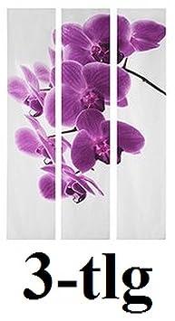 Fotogardine Orchidee mit Diamant 2 Schiebegardine Schiebevorhang auf Maß