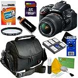 Nikon D5100 16.2MP CMOS Digital SLR Camera with 18-55mm f/3.5-5.6 AF-S DX VR Nikkor Zoom Lens - International Version (No Warranty) + 8pc Bundle 16GB Accessory Kit w/ HeroFiber Ultra Gentle Cleaning Cloth