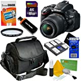 D5100 Black SLR Digital Camera Kit w/ 18-55mm Lens (16.2MP, 3x Opt, SD/SDHC/SDXC Card Slot)