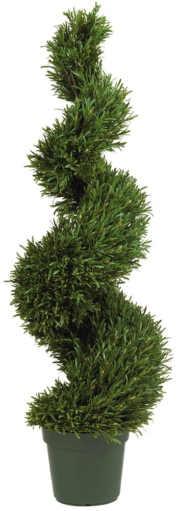 Nearly Natural 5170 Rosemary Spiral Silk Tree, 4-Feet, Green