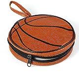 バスケットボール型DVDケースジッパーラウンドCD&DVD 20枚収納