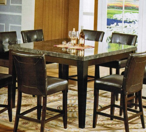 Buy Low Price Acme Furniture Counter Height Dining Table with Marble Top in Espresso Finish (VF_AM7059)