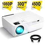 Projector, CiBest Native 1080p LED Video Projector 5000 Lux, 300 Inch Image Display Ideal for PPT Business Presentations Home Theater, Compatible with HDMI,VGA,USB,Fire TV Stick,Laptop,PS4,Xbox (Color: White)