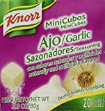 Knorr Mini Cubes Garlic Flavor 2.8 Oz. 20 Mini Cubes (Pack of 4)