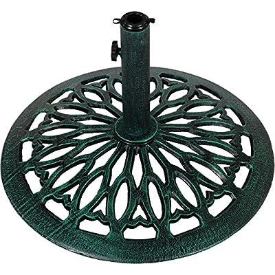 Sonnenschirmständer Gusseisen grün, 17 kg von Maxstore - Gartenmöbel von Du und Dein Garten